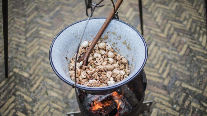 Recept knoflook champignons