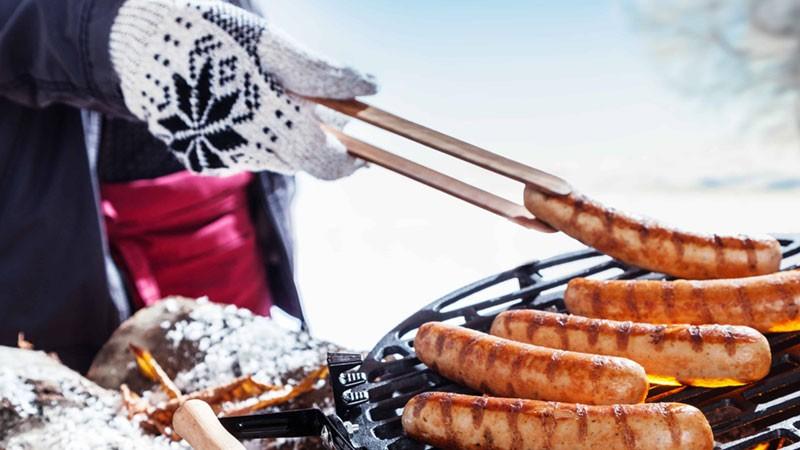 Barbecueën in de winter
